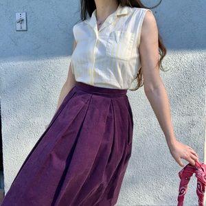 Rare GUNNE SAX Corduroy Skirt 70s Vintage Prairie
